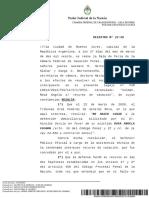 Cámara Federal de Casación Penal Sala de feria COLMAN Rosa Ángela 27_03_2020