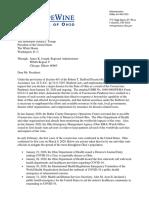 President Trump Letter Regarding FEMA Region