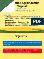 Practica N 1.- Lab. I Agroindustria Vegetal