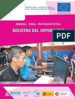 01 REGISTRO DEL IMPORTADOR