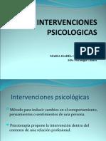 INTERVENCIONES PSICOLOGICAS