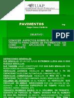 TRANSITO DE VEHÍCULOS  EN PAVIMENTOS