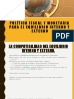 POLÍTICA FISCAL Y MONETARIA PARA EL EQUILIBRIO INTERNO