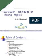 Samgram - TestEstimationTechniques