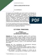 DECRETO LEGISLATIVO Nº 813.- Ley Penal Tributaria