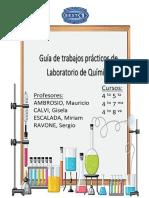 cuadernillo de Laboratorio de Química 4 to año