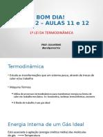 Apresentação - AULAS 11 E 12 - Fisica 2