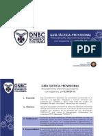DNBC cuerpo de bomberos procedimiento Covid-19