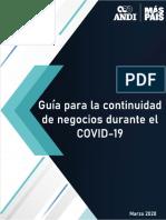 Guía para la continuidad de negocios durante el COVID