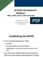 8. World Faith Development Dialogue - Fridirici