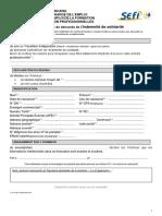 Formulaire de déclaration de l'indemnité de solidarité (travailleurs indépendants)