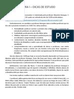 MICROECONOMIA I - DICAS DE ESTUDO PARA A TURMA 2016