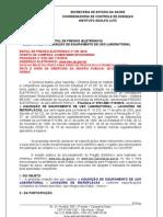 P. 129/2010 AQUISIÇÃO DE LAVADORA DE MICROPLACAS