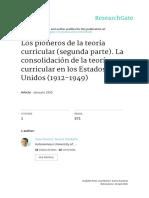 Los Pioneros Consolidacion Teoria Curricular  (1912-1949)