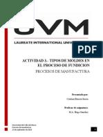 ACTIVIDAD 3.- TIPOS DE MOLDES EN EL PROCESO DE FUNDICION