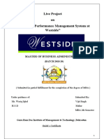 Study on performance management system at Westside