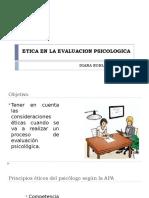 ETICA EN LA EVALUACION PSICOLOGICA