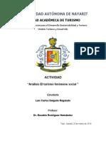 Analisis EL turismo fenomeno social - Luis Delgado
