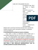 LEI ESTADUAL Nº 16.869 DE 2016 - DOULAS