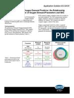 SAC254 as Oxyen Demand Predictor