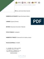 RSM Unidad 2 conservación de la materia y energía