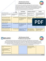 Olds SIP Professional Learning Template
