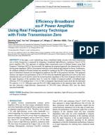 Design of high efficiency broadband amplifier using RFT.pdf