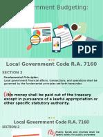 Government Budgeting Principles