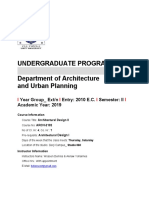 Architectural Design II. Course Schedule. 2019.03.12