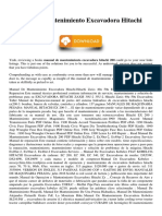 Manual De Mantenimiento Excavadora Hitachi 200.pdf