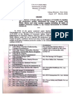 Appointment of nodal officers of Ministry of Textiles