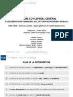 Le cadre conceptuel général