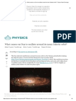 newtonian mechanics - What causes our Sun to oscillate around its mean Galactic orbit_ - Physics Stack Exchange.pdf