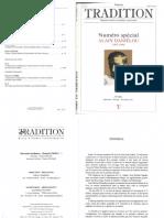 Vers la Tradition n°125 - Alain Danielou