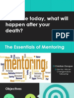 How to develop a mentoring program