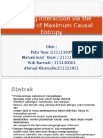 Pemodelan Interaksi melalui Prinsip Maximum Causal Entropy presentasi 1 juni