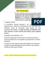 Apostila - Constitucional -  Dos Municípios