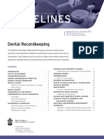 RCDSO Guidelines Dental Recordkeeping