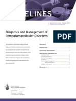 RCDSO Guidelines Diagnosis and Management of TMD