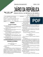 83-Dec. Pres. nº 182 -17 REGULAMENTO DAS COOPERATIVAS AGRARIAS 2017