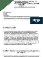 IMPACT OF VARIOUS DEMOGRAPHIC FACTORS ON CONSUMER BEHAVIOUR.ppt