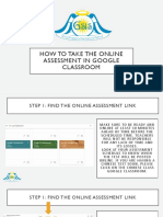 How to Take the Online Assessment in Google Classroom