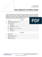 Single-Input, Single-Cell Li-Ion Battery Charger