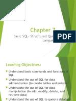 Chapter 8 Basic SQL