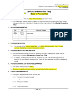 Process Definition template