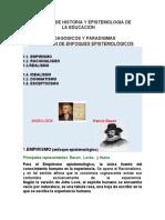 MATERIAL HISTORIA Y EPISTEMOLOGÍA DE LA PEDAGOGÍA (1)
