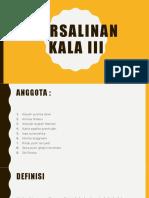 Persalinan Kala III