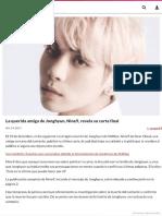 Carta suicida Jonghyun Artista Coreano, Nine9, revela su carta final _ Soompi Artículo