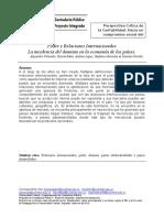Poder y relaciones internacionales - 270818