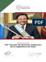Discurso de Gustavo Sáenz, Apertura de Sesiones legislativas